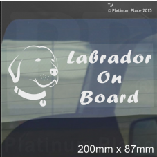 1 x Labrador Dog On Board Sticker-Car,Van-Golden Retriever Window Sign